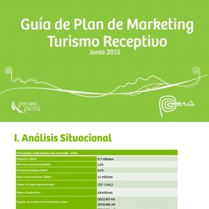 Guía de plan de marketing de turismo receptivo
