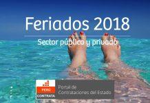 Feriados 2018 en Perú
