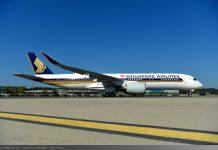 Entrega del primer A350 XWB Ultra Long Range a Singapore Airlines
