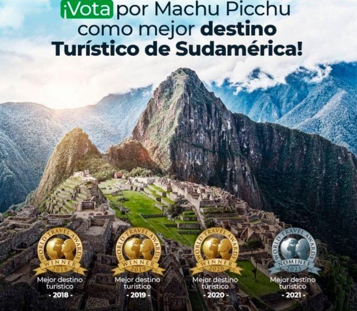 La ciudadela de Machu Picchu participa nuevamente en los premios