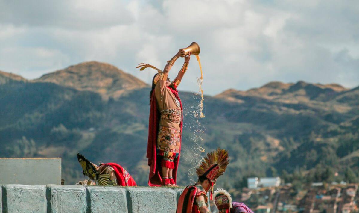 Inti Raymi en la fortaleza de Sacsayhuaman