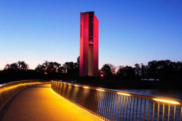 Emblemático edificio de Australia se iluminó con los colores del Perú por el Bicentenario de la Independencia.