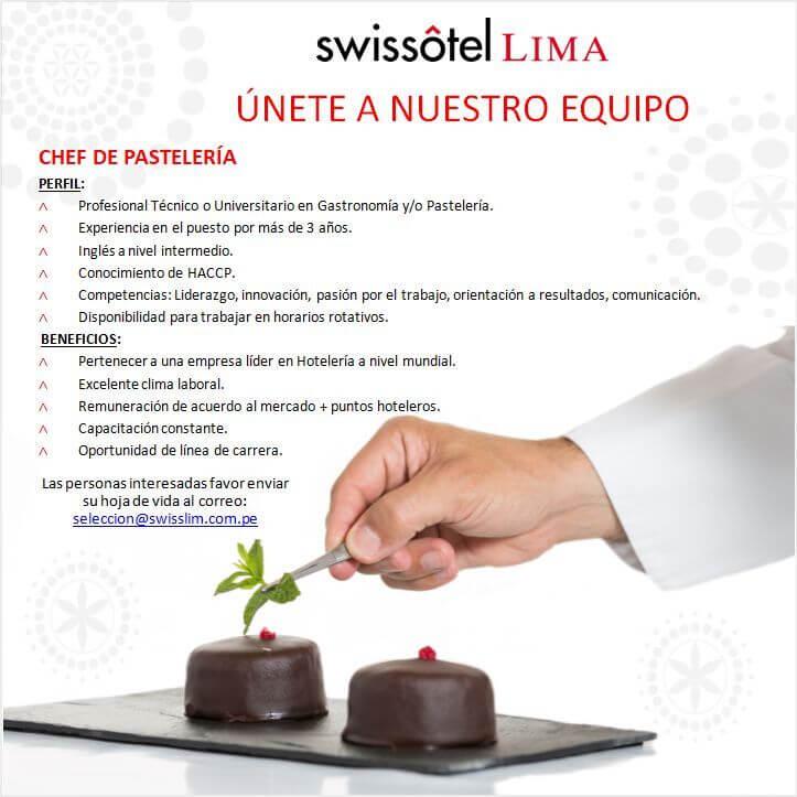 Swissotel Lima - Chef de Pastelería
